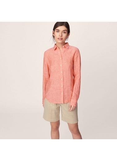 Gant Keten Gömlek Kırmızı